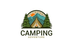 Camping Logo Template