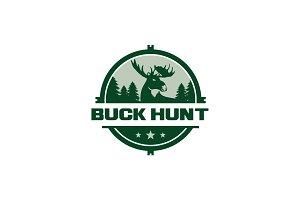 Buck Hunt Logo Template