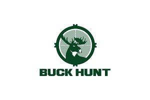 Buck Hunting Logo Template