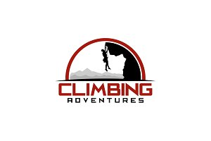 Climbing Adventure Logo Template