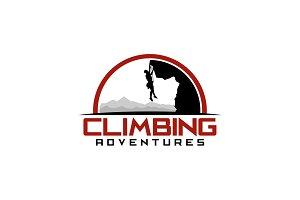 Climbing Adventure Logo Template