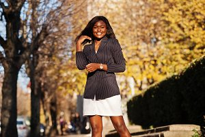 Success stylish african american wom