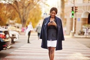 Success stylish african american wom
