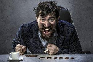 bearded man coffee lover