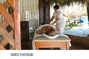 Woman getting professional massage