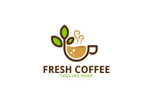 Fresh Coffee Logo Template