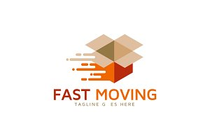 Fast House Moving Logo Template