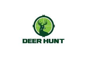 Deer Hunting Logo Template