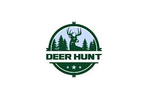 Deer Hunt Logo Template