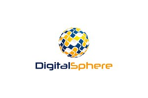 Digital Sphere Logo Template
