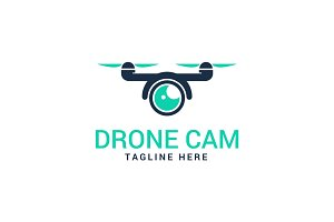 Action Drone Camera Logo Template