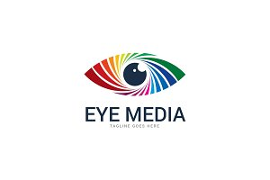 Eye Media - Colorful Eye Logo