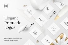 130 Elegant Premade Logos (Bundle) by  in Logos