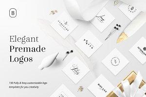 130 Elegant Premade Logos (Bundle)