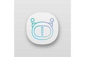 Chatbot notification app icon