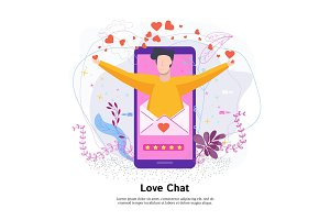 Love online chat concept