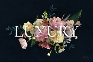 Luxury - REAL flowers' clipart set