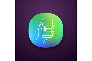 QR code smartphone scanner app icon
