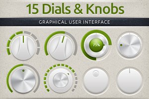Subtle Dials & Knobs User Interface