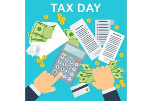 Tax day concep