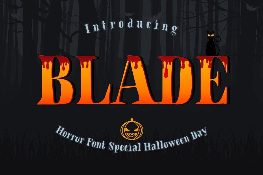 BLADE - Hallowen Font