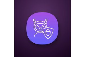 Secured chatbot app icon