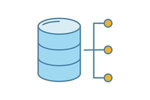 Relational database color icon