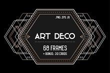 Art Deco Set: 68 frames, 30 Cards