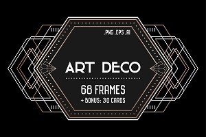 Art Deco Set: 68 frames, 30 Cards