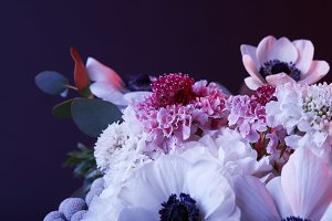 bouquet of different white and pink