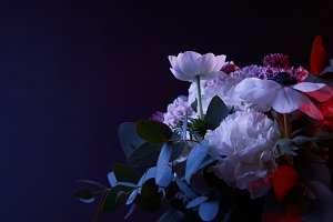 bouquet of beautiful different flowe