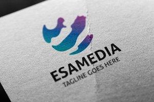 Letter E - Esamedia Logo