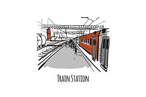 Train station, sketch for your
