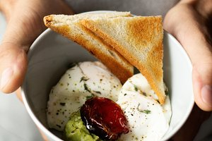 Poached Egg Breakfast with Toast