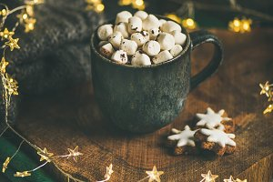 Christmas winter hot chocolate with