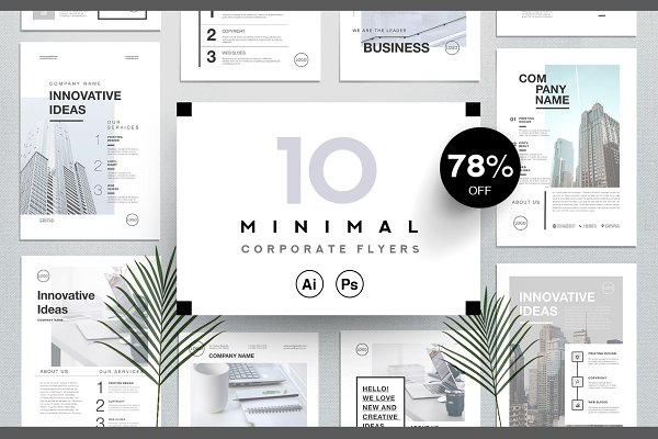 Flyer Templates: Marie T - Corporate Business Flyers Bundle