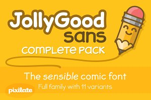 JollyGood Sans Complete Pack