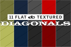 11 Flat & Textured Diagonal Patterns