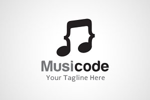 Music Code Logo Design / icon