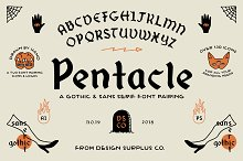 Pentacle Font by  in Blackletter Fonts