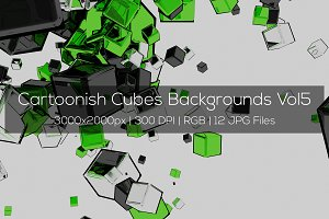 Cartoonish Cubes Backgrounds Vol5