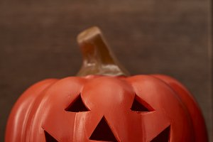 Autumn a pumpkin on wooden backgroun