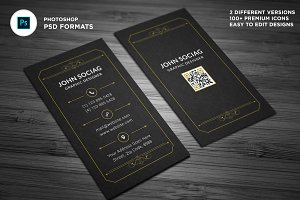 Luxurious Gold Black Business Cards