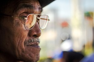 Old Man With Eyeglasses