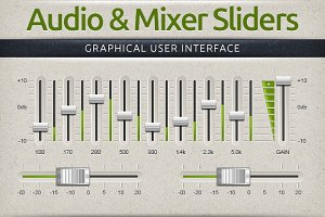 Audio & Mixer Interface Sliders