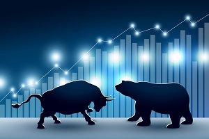 Stock market design of bull and bear