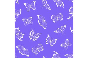 Vector hand drawn insects pattern or