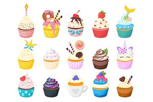 illustration of sweet cupcake