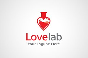 Love Lab Logo Design / icon