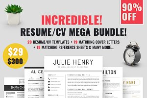 Resume/CV Mega Bundle